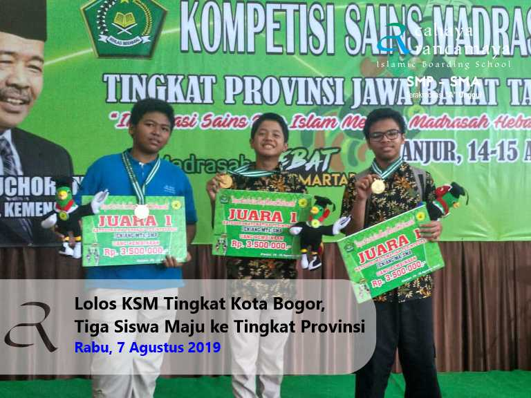 Lolos KSM Tingkat Kota Bogor, Tiga Siswa Maju ke Tingkat Provinsi